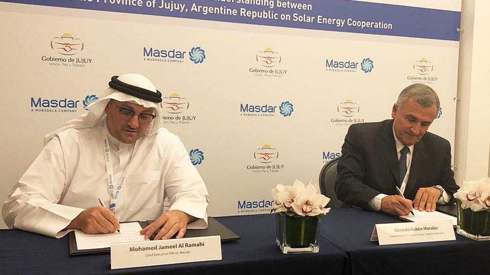 Energía solar: acuerdo de cooperación entre Jujuy y la empresa Masdar