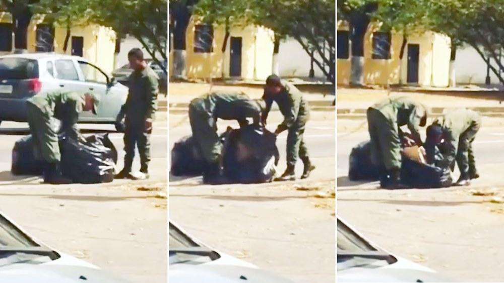 Venezuela: Hasta los militares buscan comida en la basura