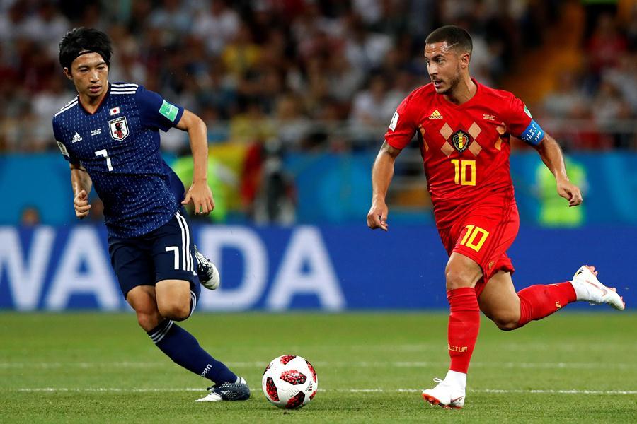 Eden Hazard contra Japón (Rusia 2018)