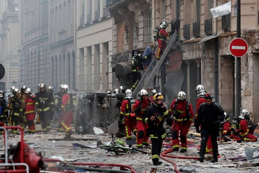 Explosión en una panaderia de paris