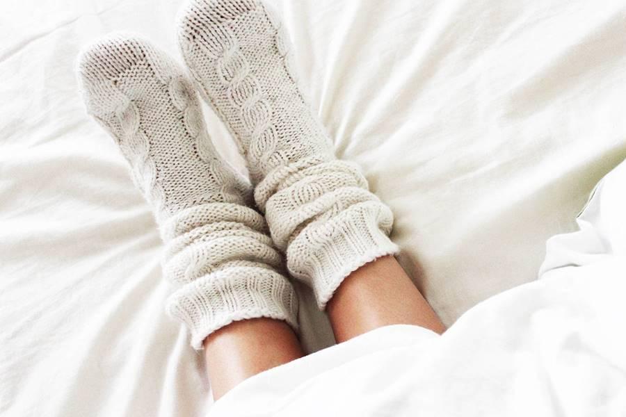 Dormir con medias