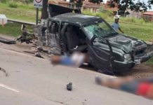 Accidente en el ingerso a Perico
