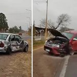 Choque y una mujer lesionada en la Ruta 9