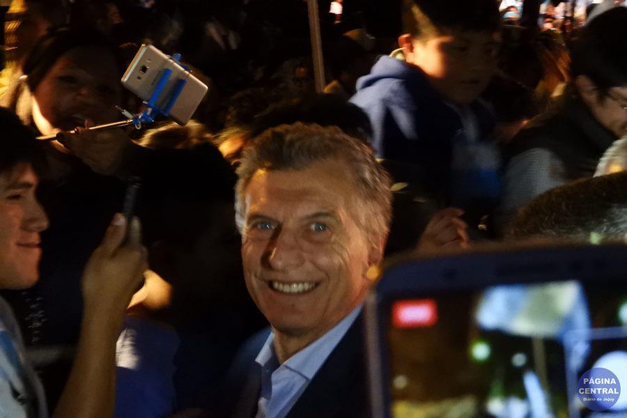"""Mauricio Macri en la marcha del """"Sí se puede"""" en Jujuy"""