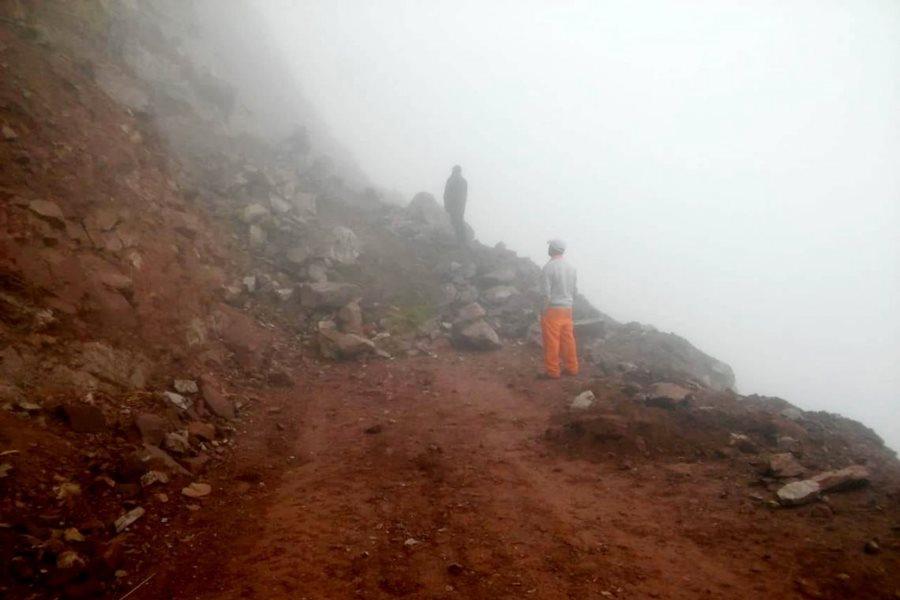 Camino Santa Ana Valle Colorado desmoronamientos