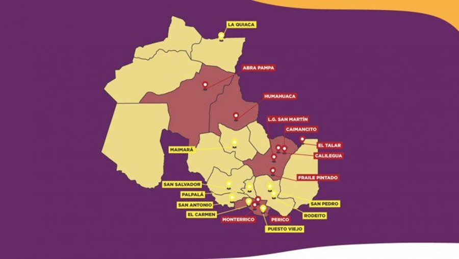 Mapa Jujuy actividades